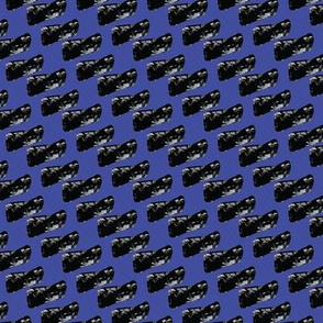 Black Blobs on Blue