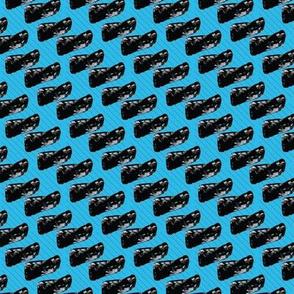 Black Blobs and Lines on Light Blue