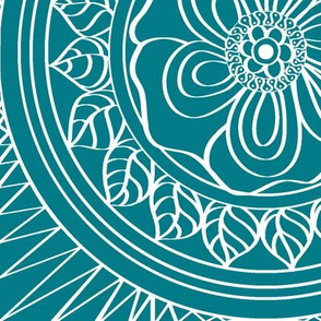 White_Bohemian_outline_on_Teal