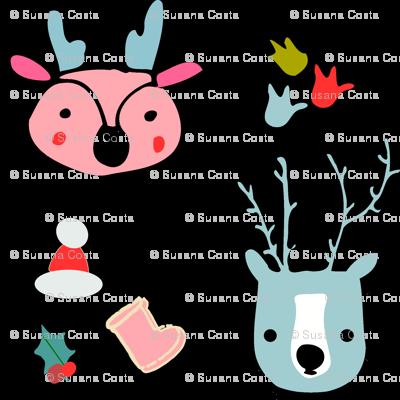 cute reindeer holiday