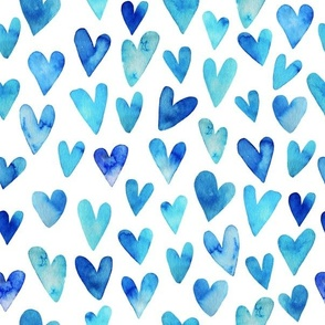 Blue Ombre Hearts