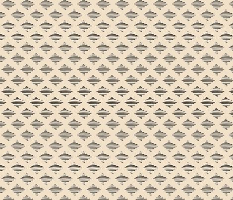 Inky Ikat / charcoal on ivory fabric by francesandtheo on Spoonflower - custom fabric