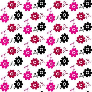 Multi-Color Retro Flowers