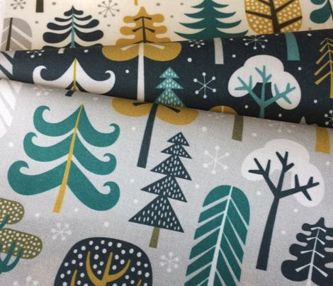 winter woods - cream