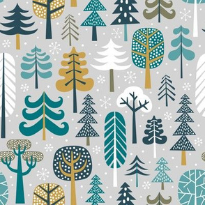 winter forest - light grey