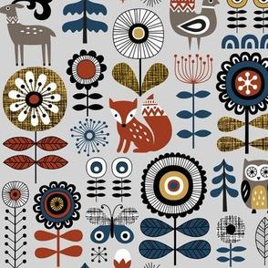 woodland story - grey