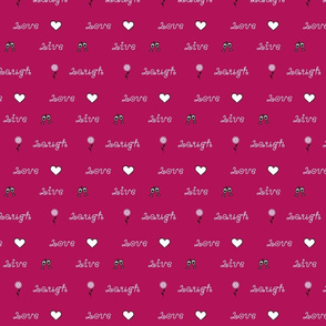 Live Laugh Love with Icons