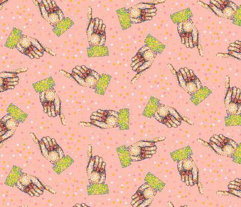 Point This Way and That fabric by seesawboomerang on Spoonflower - custom fabric