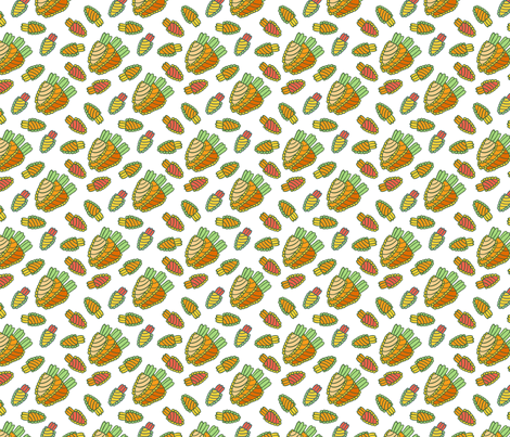 carrot_pattern_1200px fabric by whypearl on Spoonflower - custom fabric
