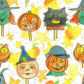 Vintage Halloween Faces