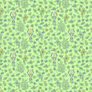 Cute Squid seamless pattern