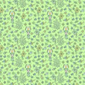 Cute Squid seamless pattern
