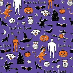 Retro Trick or Treat - Purple
