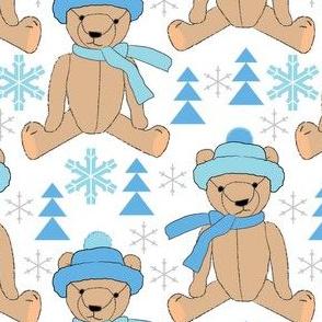 brown winter teddy bears