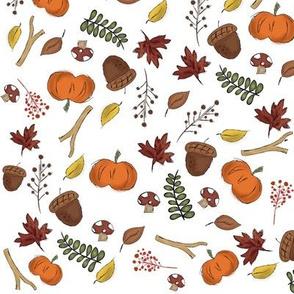Fall Harvest Micro Print