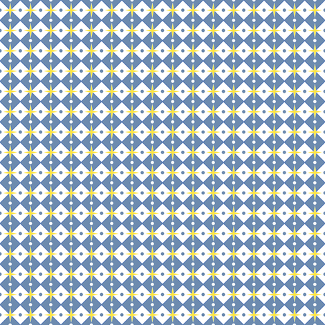 Talavera - Half Inch Check with Dots and Stars fabric by ameliae on Spoonflower - custom fabric