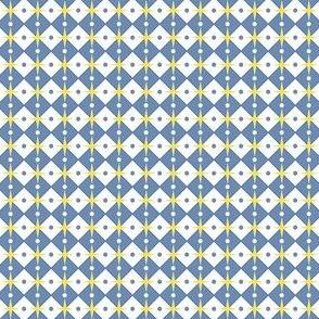 Talavera - Half Inch Check with Dots and Stars