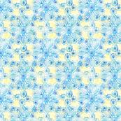 Rustic Summer crochet (blue-yellow)