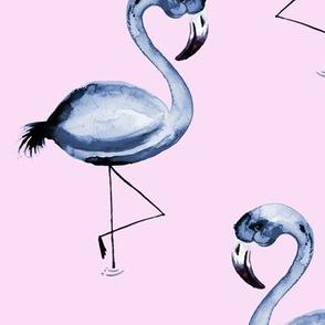 Inky Flamingo Flaunt