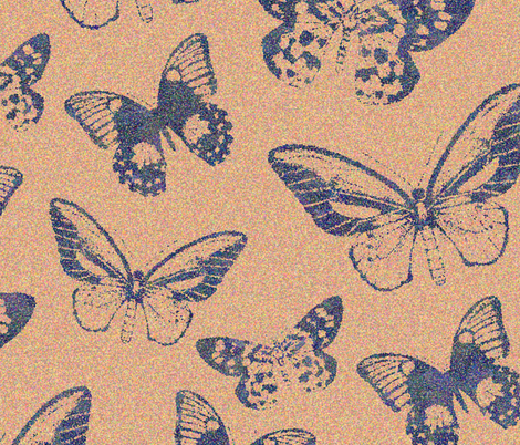 Butterfly_Pointilism fabric by katiemariegilbert on Spoonflower - custom fabric