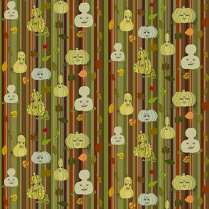 Gourds on Halloween stripe