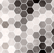 Black & White Hexagons