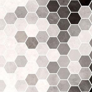 Black & White Hexagons
