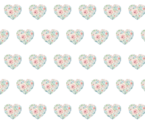 Pastel Heart Cactus fabric by hipkiddesigns on Spoonflower - custom fabric