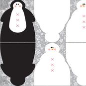 Snowmen & Penguin Plushies A