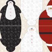 Snowmen Santa Penguin Dolls B