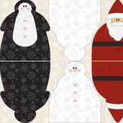Snowman Santa Penguin Dolls D