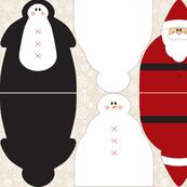 Snowman Santa Penguin Dolls C