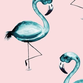 Teal Flamingo Flaunt