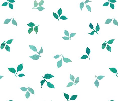 Summer fruit leaves coordinate fabric by adenaj on Spoonflower - custom fabric
