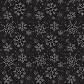 Merry Snowflakes-Black