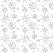 Merry Snowflakes-Grey