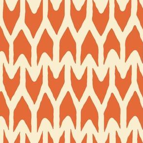 arrow orange ivory