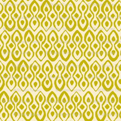 brocade chartreuse ivory