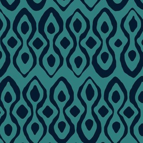 brocade indigo blue