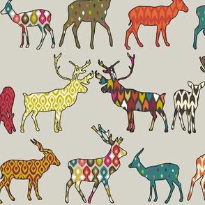 patterned deer stone