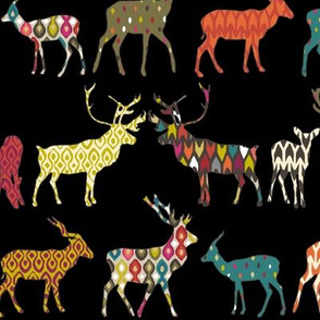 patterned deer black