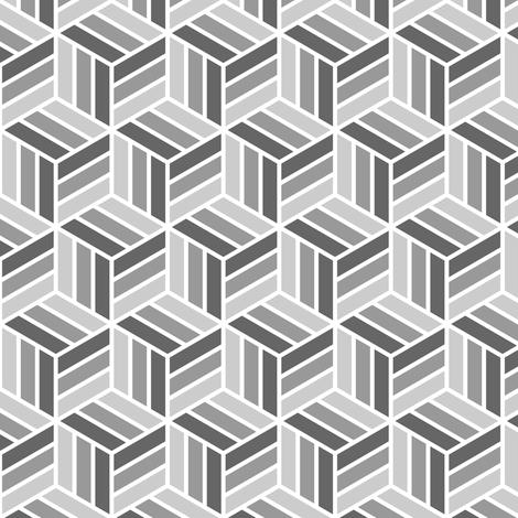 06755418 : trombus in 3 : grey fabric by sef on Spoonflower - custom fabric