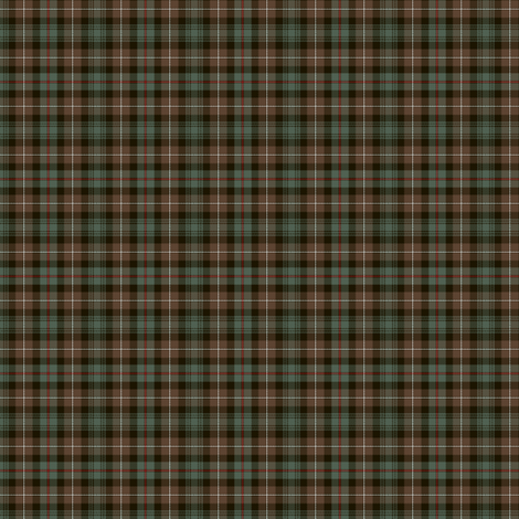 "Mackenzie tartan, weathered 1.5"" (1:4 scale) fabric by weavingmajor on Spoonflower - custom fabric"