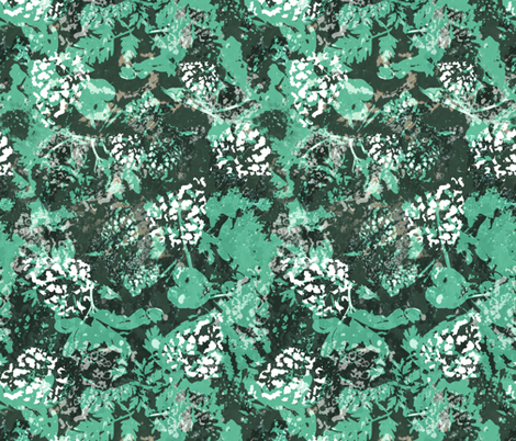Woodland floor (green) fabric by bugeyefly on Spoonflower - custom fabric