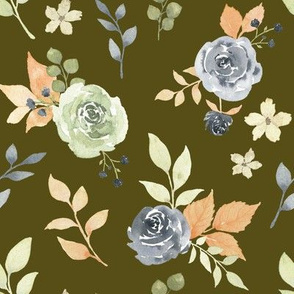 Fall Floral Olive