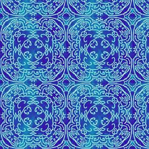 Bohemian quilt square, Denim