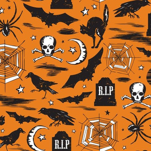 Hallows' Eve - Vintage Halloween Orange & Black