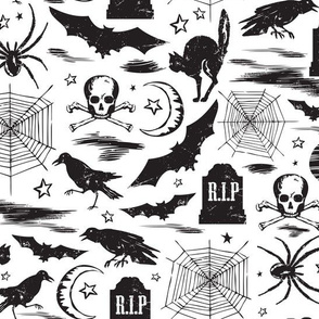 Hallows' Eve - Vintage Halloween Black & White