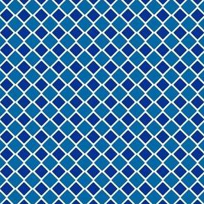 Talavera - Half Inch Large and Small Check - Large and Dark Blue