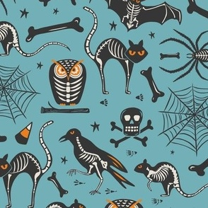 Halloween X-Ray - Blue & Black